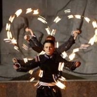 Огненно-пиротехническое шоу на праздник